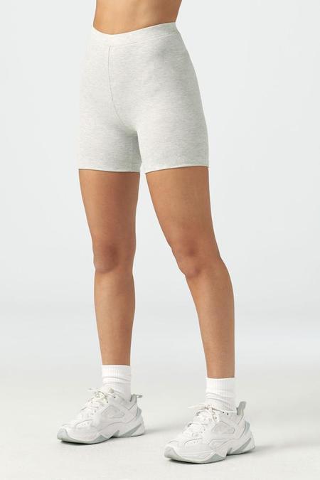 Joah Brown Mid-length Short - Pearl Grey