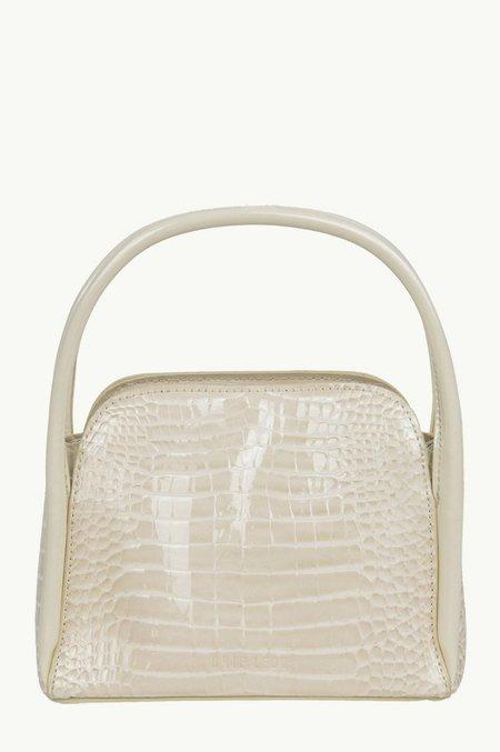 BRIE LEON The Evie Bag - Bone Baby Croc