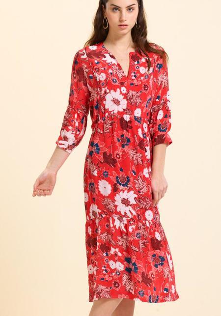 Calou Karina Dress - Red Flower