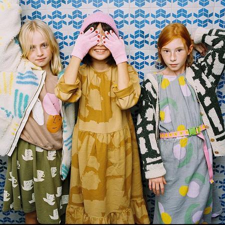 kids Bobo Choses Child All Over Fruit Print Midi Dress - Grey