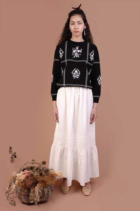 Meadows Ficus Skirt - White