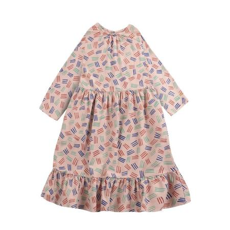 kids bobo choses scratch all over woven midi dress - rose
