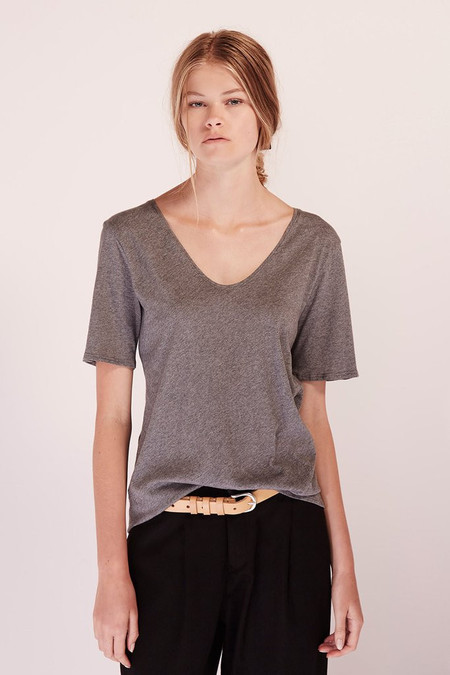 KOWTOW Building Block V Tee in Dark Grey Marle