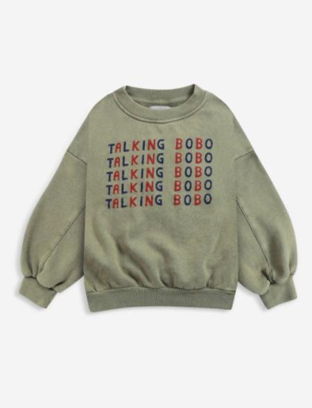 Bobo Choses Talking Talking Sweatshirt - green