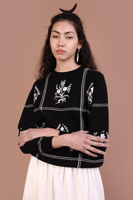Meadows Victoria Knit Top - Black