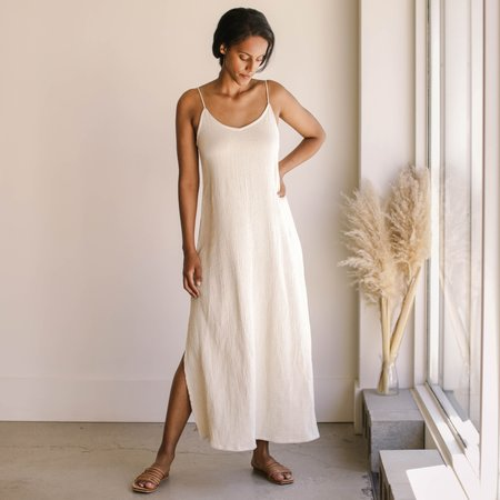 BAHHGOOSE Rose Dress - Wheat