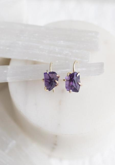 Variance Objects Amethyst Hook Earrings - 14KT-18KT Gold