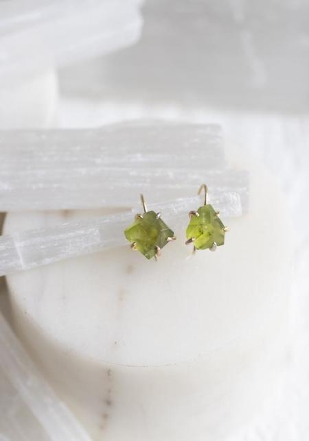 Variance Objects Peridot Hook Earrings - 14KT/18KT Gold