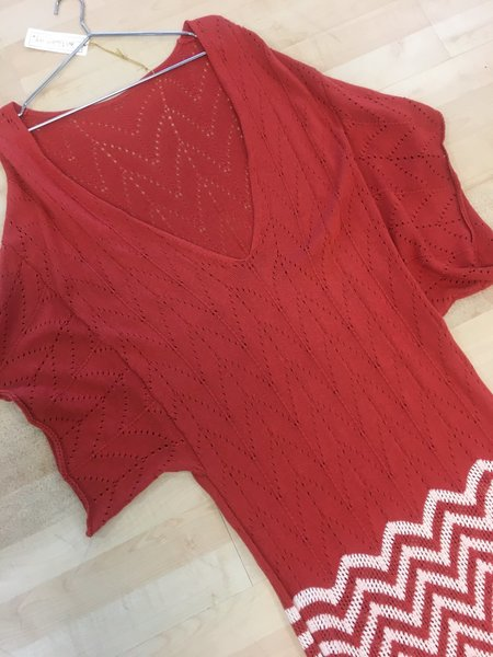 Jen's Pirate Booty SAMPLE Sunset Beach Kaftan dress - Red Hibicus