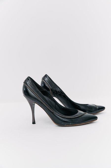 [Pre-Loved] Alexander McQueen Patent Leather Heels - Black