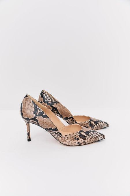 [Pre-Loved] L.K. Bennett Embossed Leather Heels - Beige Snakeskin