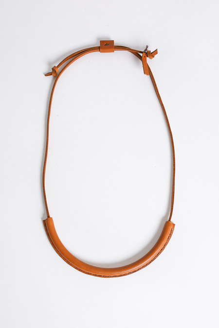 Crescioni Circuit Necklace in Saddle Brown