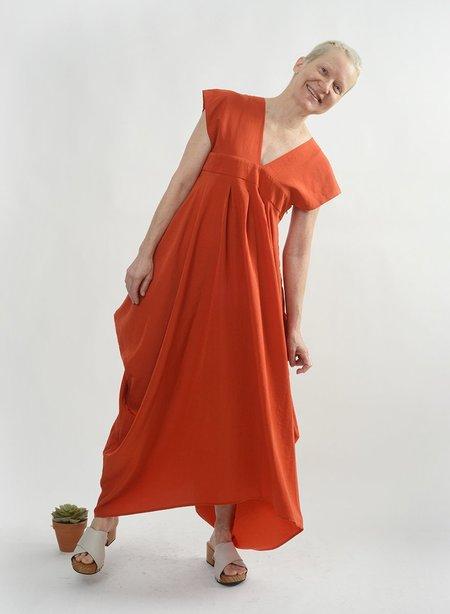 Meg Wide Strap Dress - Orange