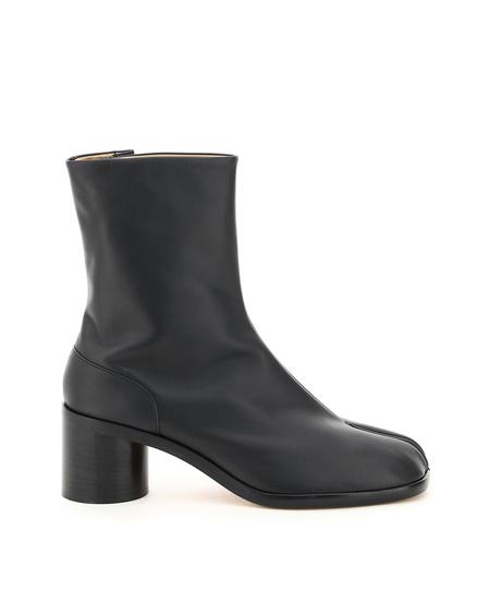 Maison Margiela Tabi Ankle Leather Boots - Black
