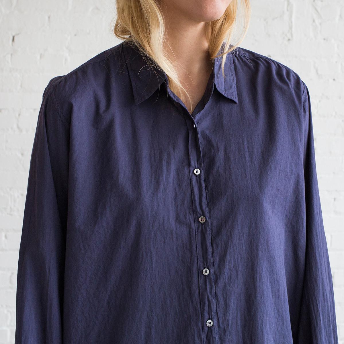 Xirena Beau Shirt Midnight Blue Garmentory