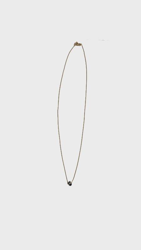 Januka 1696 Necklace - Black Opal/14K