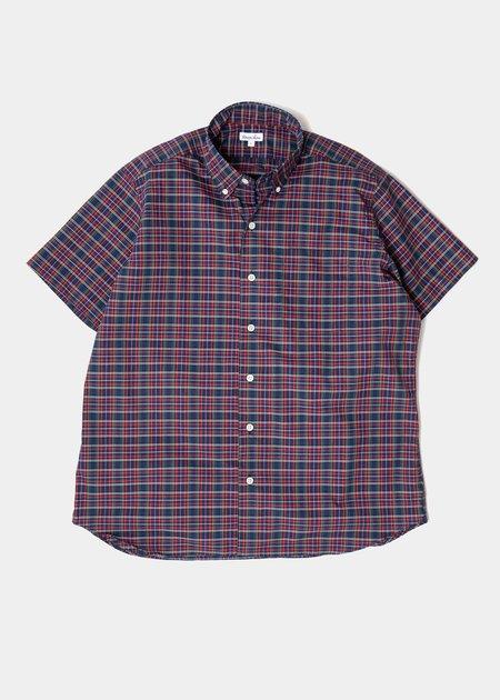 Steven Alan Short Sleeve Single Needle Shirt - Plaid