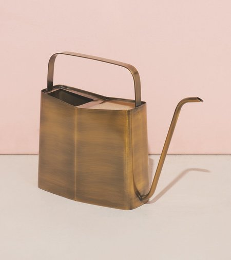 Modern Sprout Watering Can - Brass