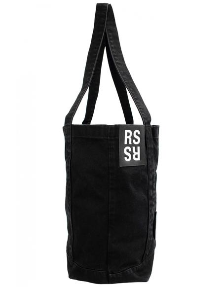 Raf Simons Denim Badges Tote Bag - black