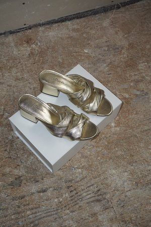 [pre-loved] 3.1 Phillip Lim Cube Twist Sandal - Gold