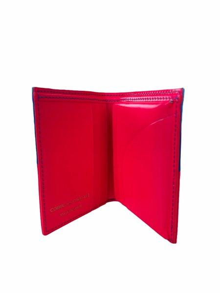 Comme des Garçons FLUO SQUARES WALLET - pink/Blue