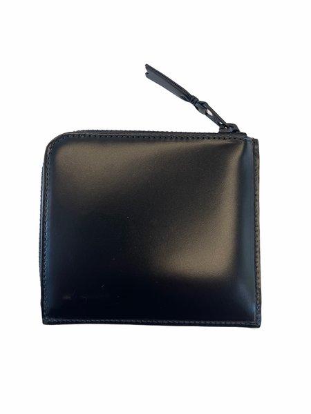 Comme des Garçons VERY LINE CORNER ZIP wallet - BLACK