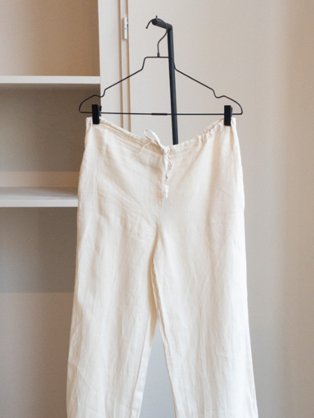 Vintage Linen Trousers - white