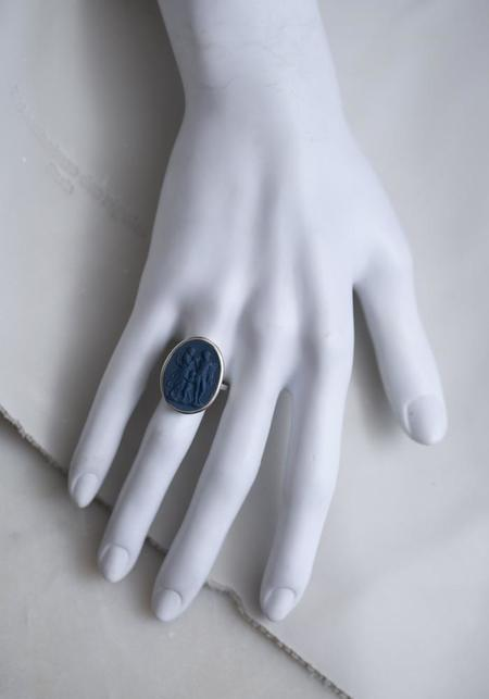 Marcie McGoldrick Hand Set Porcelain and Silver Family Ring