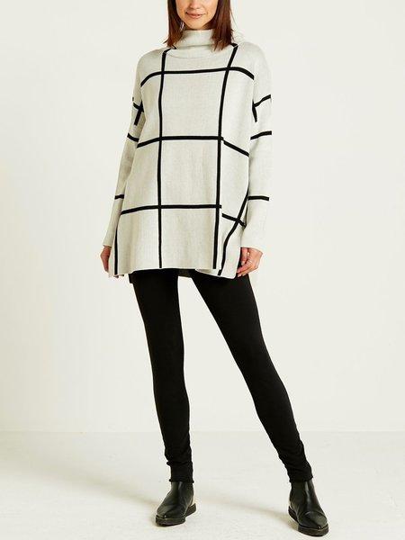 Planet Window Pane Sweater - Cream/Black