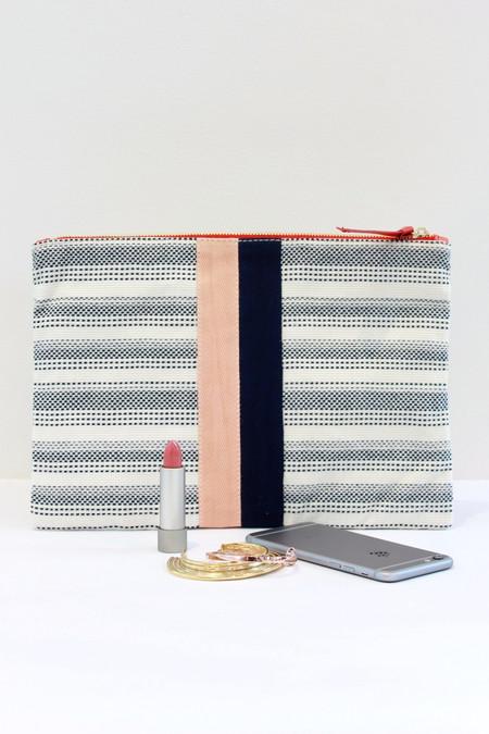 Clare V. Flat Clutch BIT stripe