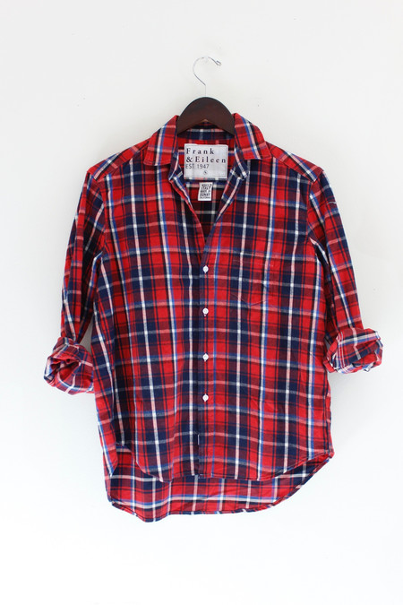 Frank & Eileen Red Plaid Flannel Shirt