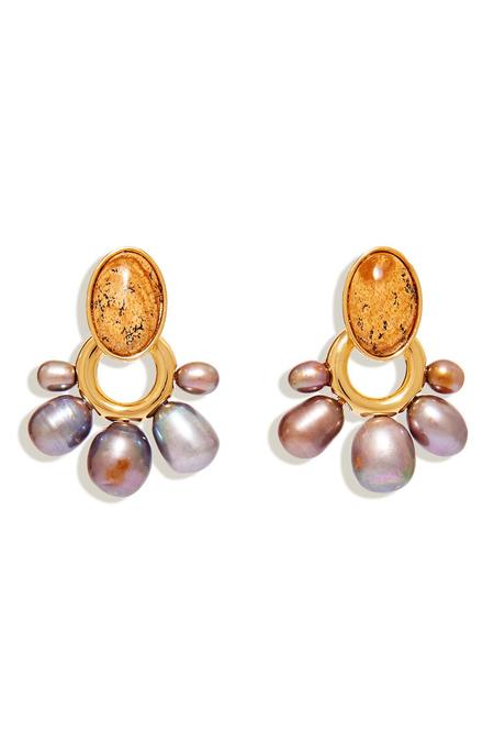 Mignonne Gavigan Adelaide Pearl Drop Earring - Jasper