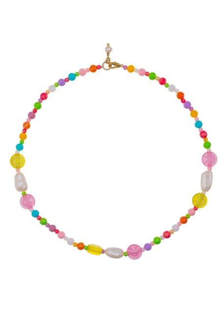 Talis Chains Chasing Rainbows Smiley Choker - Rainbows