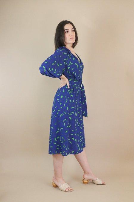 Traffic People Belt-Up Dress - Blue