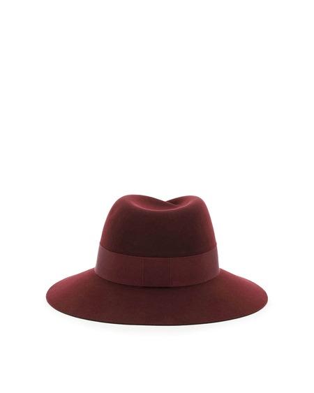 Maison Michel Virginie Felt Hat - Bordeaux