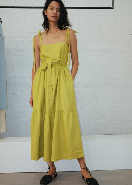 Ajaie Alaie Chica Dress - Chartreuse
