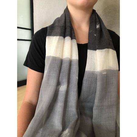 See Design - Wool Scarf - Block Black/Grey