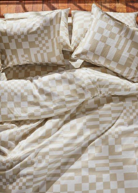 Dusen Dusen Set Check Duvet - beige/white