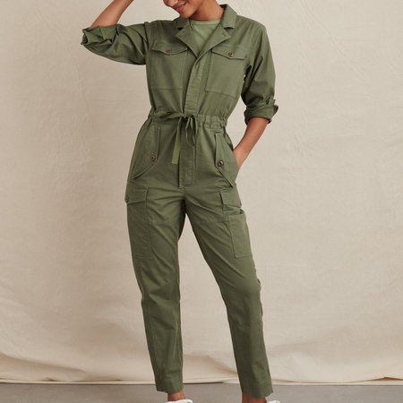 Alex Mill Cargo Jumpsuit - green