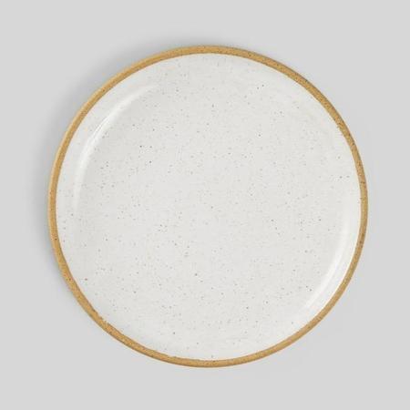 Norden 10'' Speckled Dinner Plate - White
