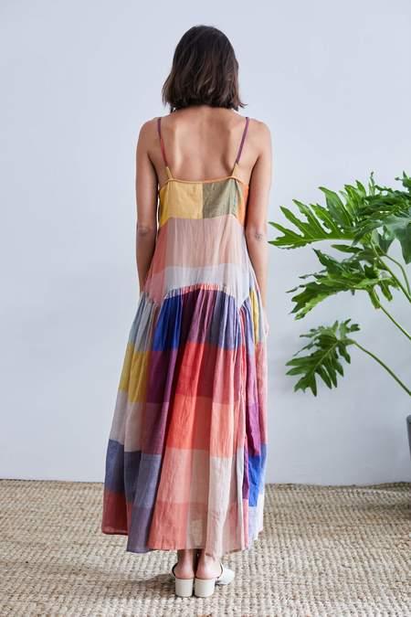 Rujuta Sheth Leila Slip Dress - Dusk Multi Chex