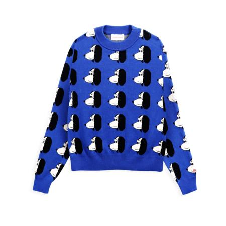 Bobo Choses Doggie Print Jacquard Sweater - Royal Blue