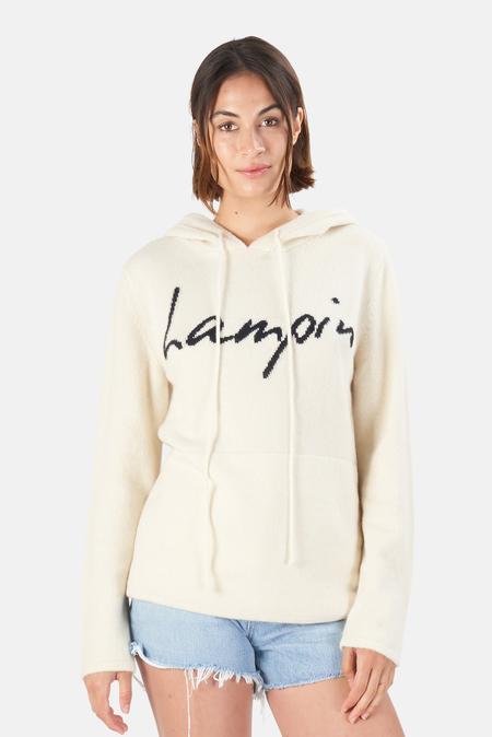 Harden Lampin Hoodie Sweater - White/Navy