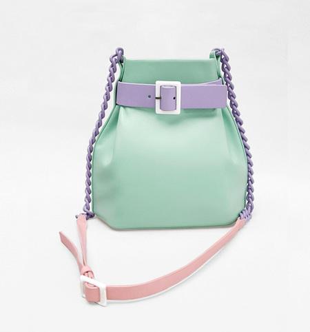 MATTER MATTERS MINI Bucket bag - Mint/Blush