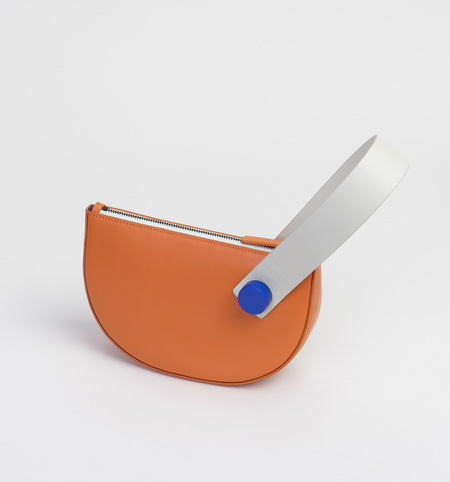 MATTER MATTERS Mini Half Moon Clutch - Orange