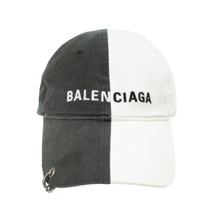 Balenciaga 50/50 Whith Piercing Cap - black/white