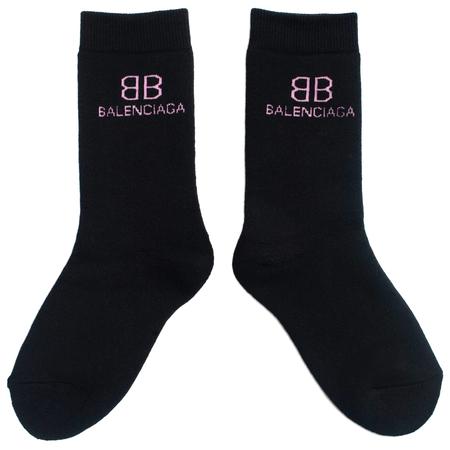 Balenciaga Logo Socks - Black