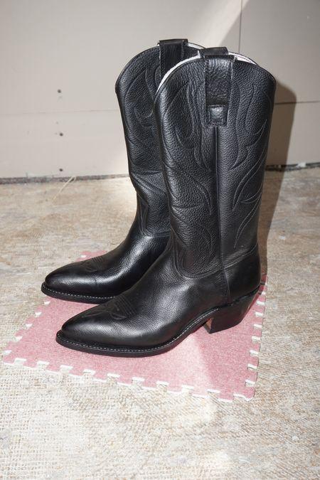 [pre-loved] Stewart Classic Cowboy Boot - Black