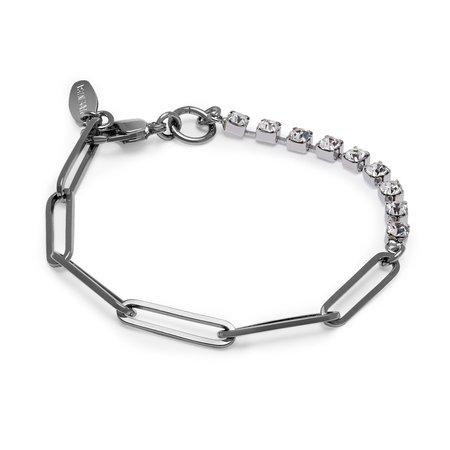 Joomi Lim Asymmetrical Chain & Crystal Bracelet