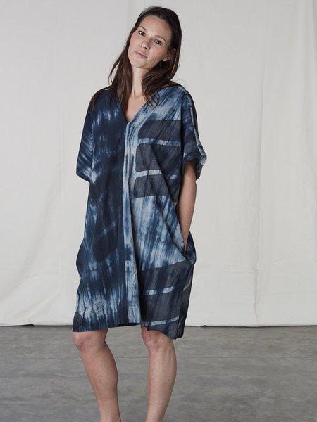 Uzi NYC Oversized V Dress - Tie Dye Swipe